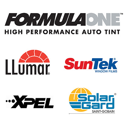 Llumar, Suntek, SolarGard, Xpel Window Tint Films