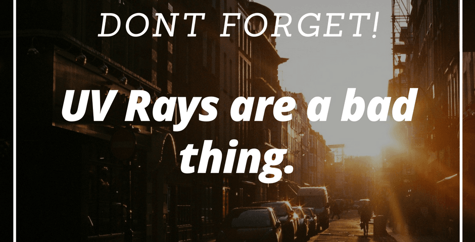 UV Rays are a bad thing. Tint Specialists Utah.